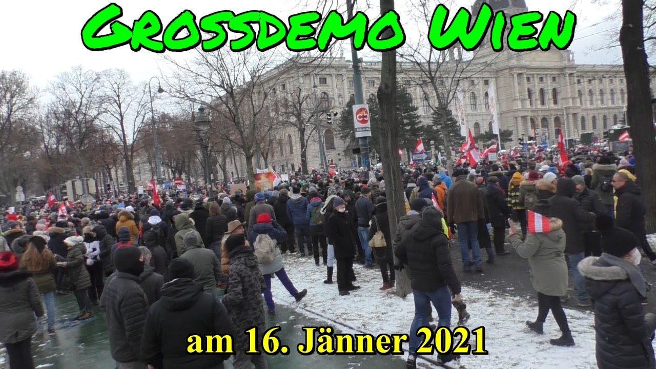 GROSSDEMO WIEN am 16.01.2021 - IMPRESSIONEN
