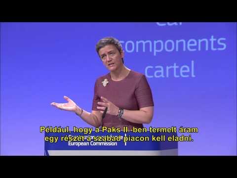 Margrethe Vestager: Paks II. nem torzítja az energiapiacot