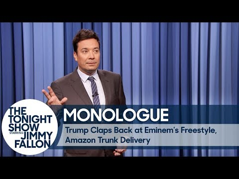 Thumbnail: Trump Claps Back at Eminem's Freestyle, Amazon Trunk Delivery - Monologue