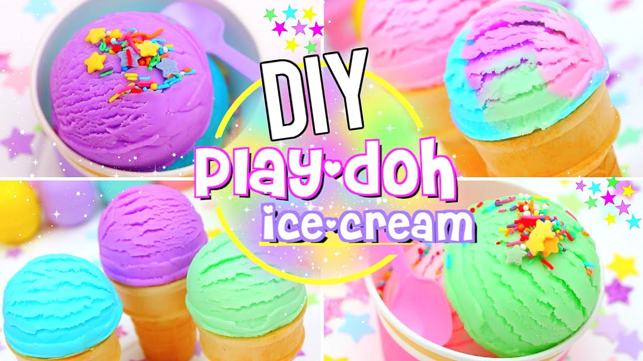 Diy Edible Play Dough Ice Cream Youtube