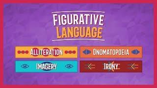 Alliteration, Onomatopoeia, Imagery, and Irony | Figurative Language Lesson