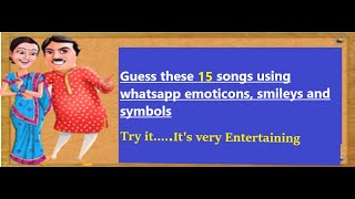 Guess The 15  Song By EMOJI Challenge | Bollywood || Hindi Songs Challenge Video || 2020 ||