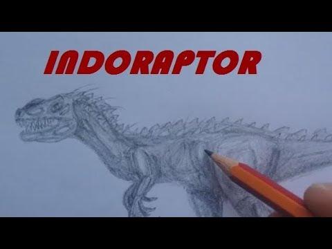 How To Draw Indoraptor From Jurassic World Fallen Kingdom Youtube