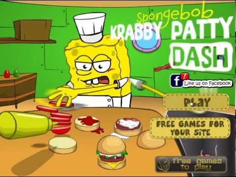Игра Спанч Боб готовит крабсбургеры