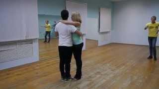 Кизомба начинающие(Ксюша и Женя. Кизомба. Обучение в школе танцев