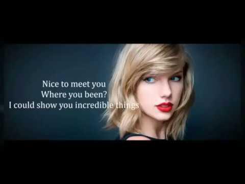Taylor Swift  lyrics Blank space