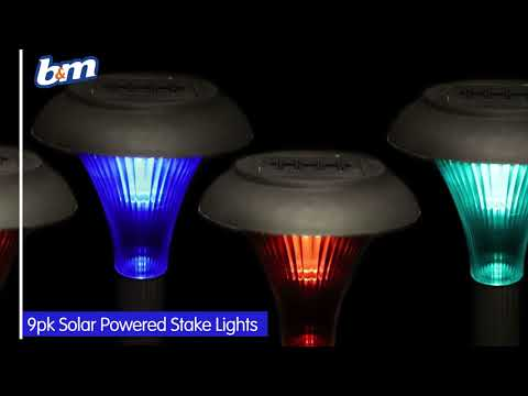 Solar Powered Stake Lights - Colour Changing | B&M Stores