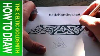 How To Draw Celtic Knots 9 - Border Triskele Pictish Stone Cross