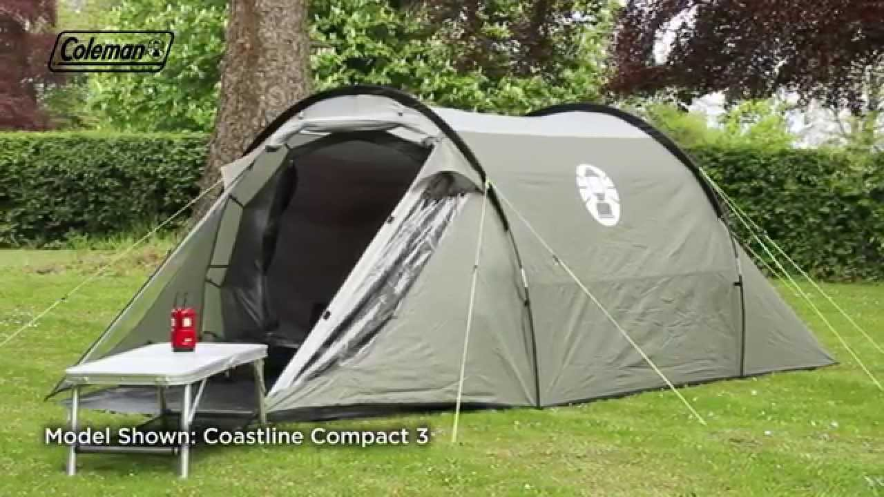 & Coleman® Coastline Compact 2 - Two person active tent - YouTube