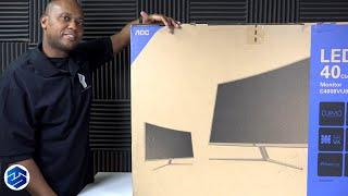 """AOC C4008VU8 40"""" 4K Curved LED Monitor"""