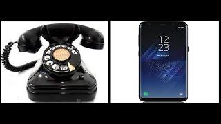 Evolución De Los teléfonos 1870-2017 (Fijos y Móviles)
