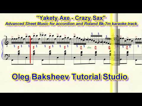 """Benny Hill Theme - Yakety Axe - Crazy Sax"" Accordion Sheet Music Review"