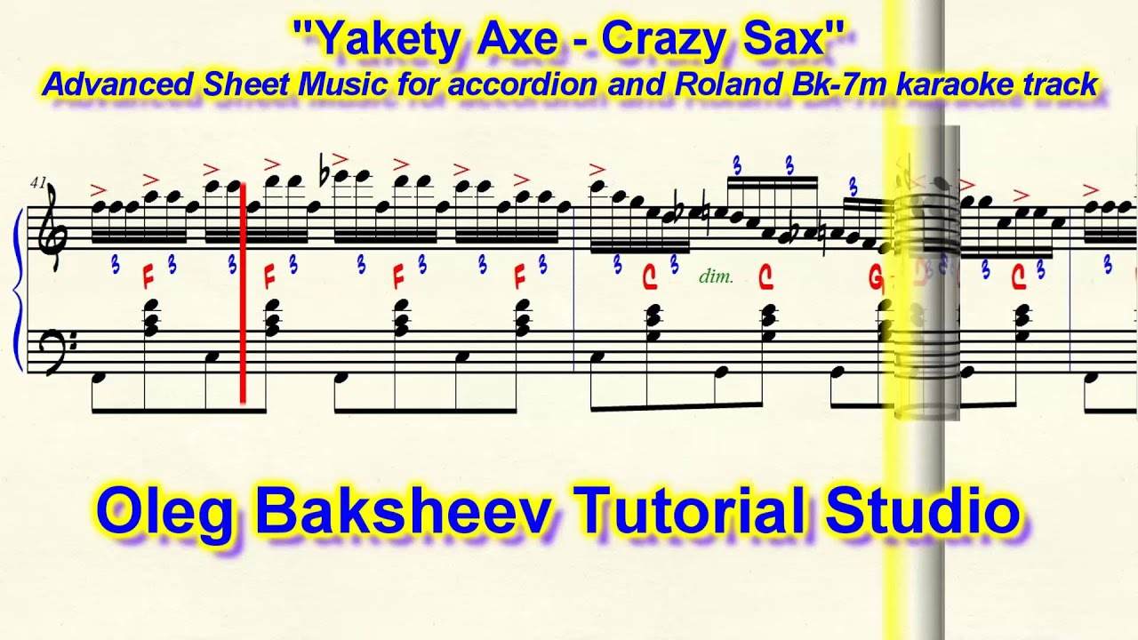 Benny Hill Theme Yakety Axe Crazy Sax Accordion Sheet Music Review