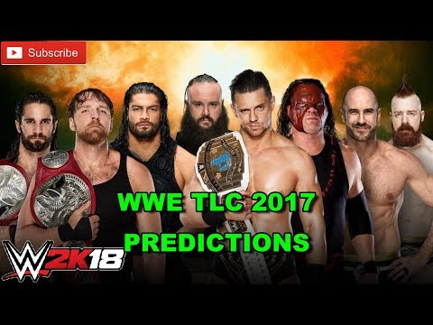 WWE TLC 2017 The Shield vs. Braun Strowman, The Miz, Kane, Cesaro & Sheamus TLC Match WWE 2K18 thumbnail