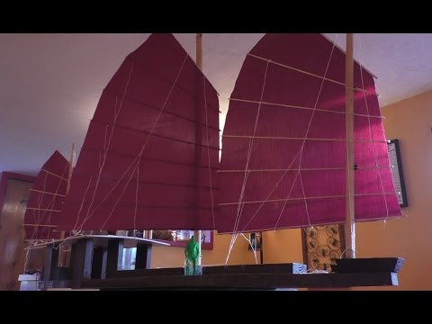 Chinese Junk Sails and the Mast