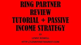 RingPartner|Ring Partner Review + Tutorial|Are Pay Per Call Networks Like Ring Partner A Scam? PT 1