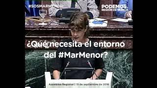 María Giménez denuncia las mentiras del PP sobre el Mar Menor