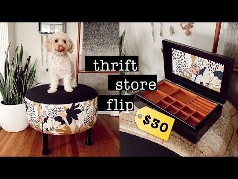 DIY Thrift Store Decor $30 Budget // THRIFT FLIP 2019