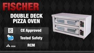 Fischer Equip Double Deck Pizza Oven