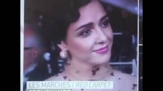 مصاحبه انگليسی ترانه عليدوستی در مراسم فرش قرمز فيلم فروشنده در جشنواره كن.