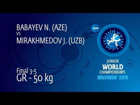 BRONZE GR - 50 kg: J. MIRAKHMEDOV (UZB) df. N. BABAYEV (AZE), 10-3