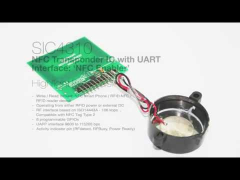 SIC4310  NFC Enabler  Energy-harvested sound, cost-effective solution