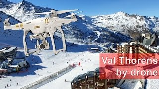 Val Thorens - World's best ski resort by drone - Dec 2016 (4K Ultra HD)