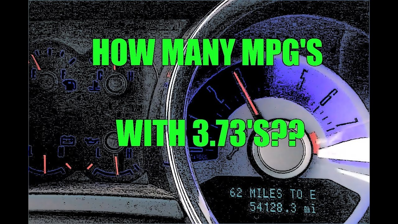 MPG Test - V6 3 7 Mustang w/ 3 73's @80mph / Fuel Mileage Test with 3 73  Gears