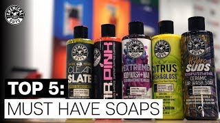 Top 5 Must Have Soaps And When To Use Them! - Chemical Guys