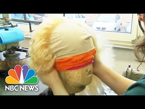 President Donald Trump's Unmistakable Hair Recreated By Wig Makers | NBC News