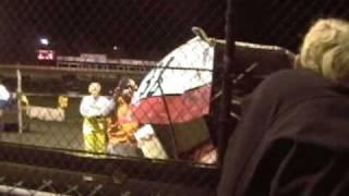 121308 Sprint Car Crash at Volusia Speedway Park.