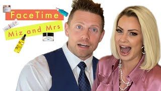 WWE Superstar The Miz Tries His Wife Maryse's Beauty Routine | Face Time | Cosmopolitan