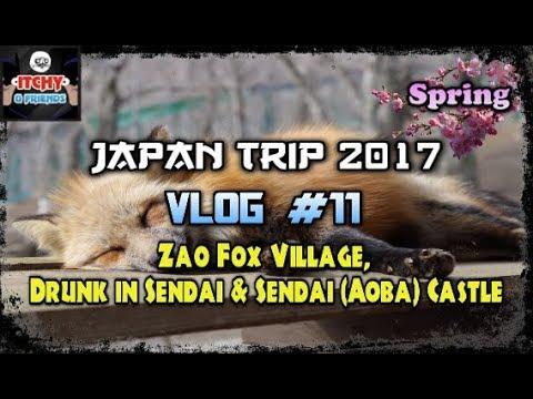 Japan Trip: Spring 2017 |Vlog #11| Zao Fox Village, Drunk in Sendai & Sendai (Aoba) Castle - Funny Australians go to Fox Village and Sendai (Aoba) Castle in Japan.