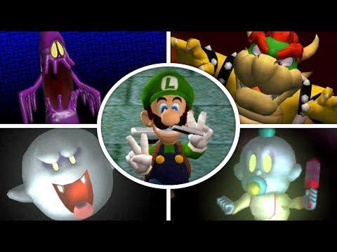 Luigi's Mansion HD - All Bosses (No Damage)