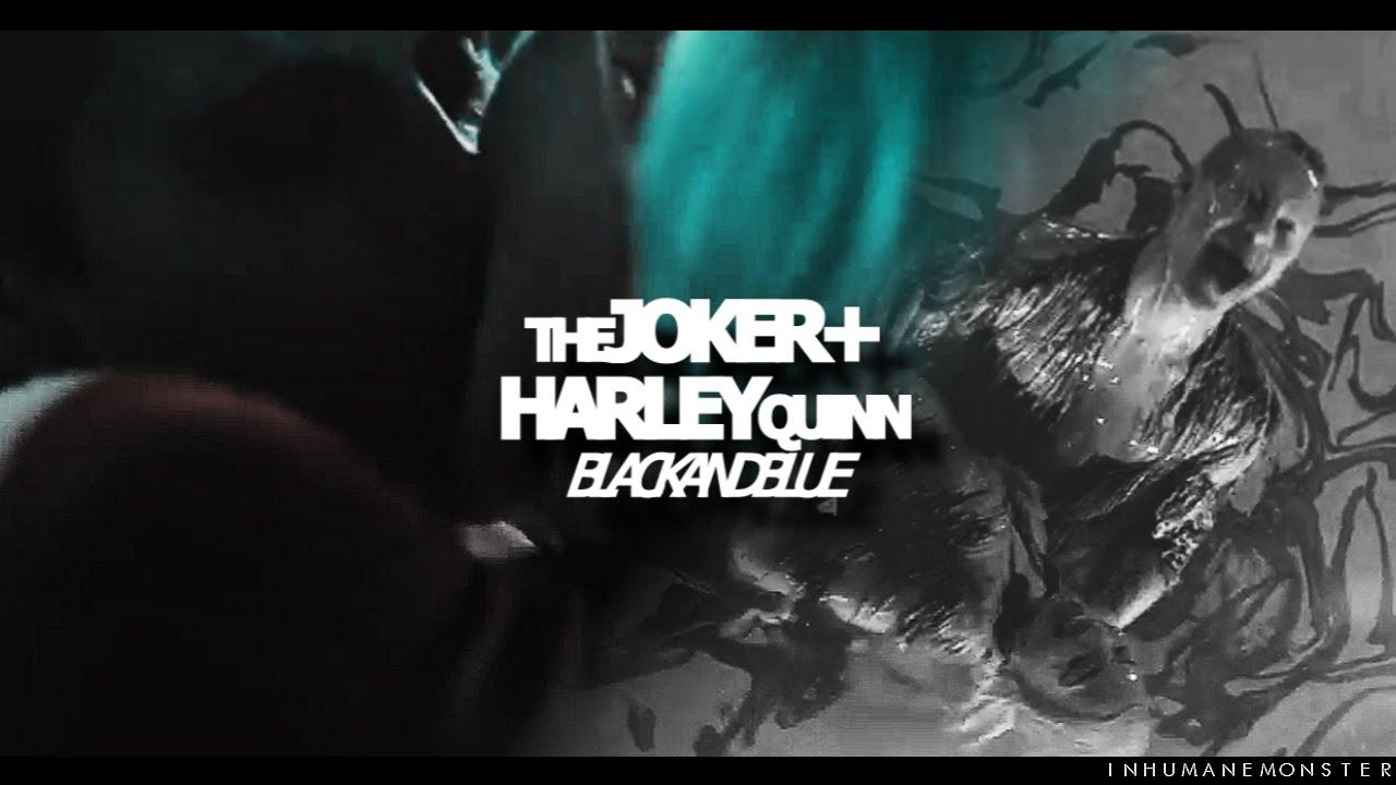 joker/harley   black and blue ...