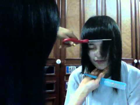 how to cut baby bangs youtube