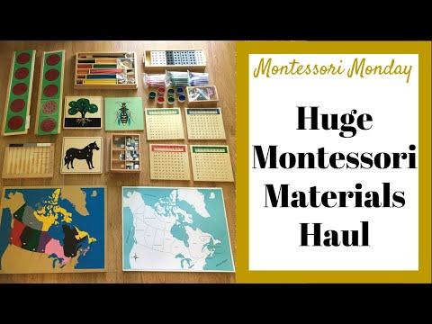 Huge Montessori Materials Haul Unboxing For Homeschooling - Montessori Monday