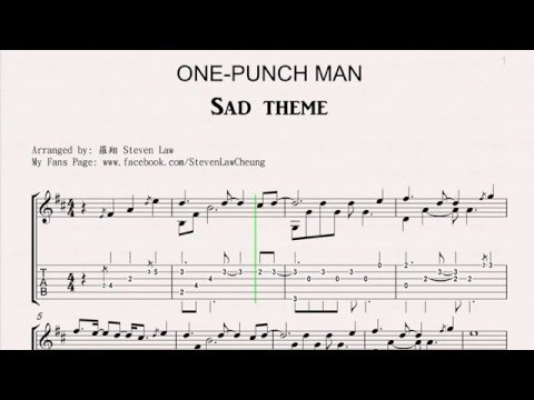 """Guitar unravel guitar tabs : One Punch Man - Sad Theme """"Fingerstyle Guitar"""" [TAB] - YouTube"""