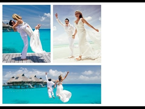 KIM AND CAZ  Kimberley Caroline  WEDDING CEREMONY HILTON BORA BORA TAHITI 2012 lesbian wedding