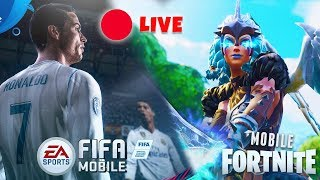 🔴 LIVE!! - PROVIAMO LA SKIN VALKIRIA Fortnite Battle Royale!! + FIFA 18 MOBILE