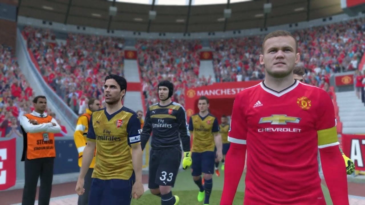 Pes 2016 manchester united vs arsenal 1st half youtube voltagebd Image collections