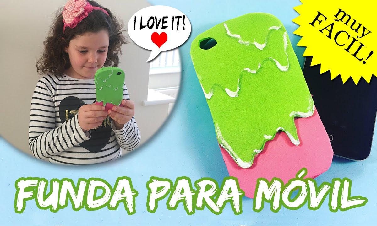FUNDA para MOVIL o celular de GOMA EVA * Funda en forma de helado - YouTube