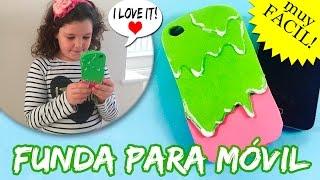 FUNDA para MOVIL o celular de GOMA EVA * Funda en forma de helado