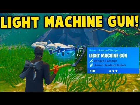 Fortnite: LIGHT MACHINE GUN GAMEPLAY! NEW LMG UPDATE GAMEPLAY    Fortnite Battle Royale!