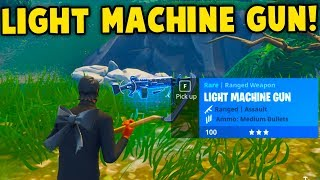 Fortnite: LIGHT MACHINE GUN GAMEPLAY! NEW LMG UPDATE GAMEPLAY || Fortnite Battle Royale!