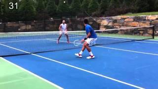 Novak Djokovic Dusan Vemic Mini Tennis Rally