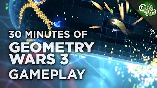 30 Minutes of GEOMETRY WARS 3 Gameplay! Classic Mode, Pacifism, Co-Op and More