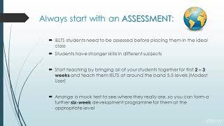 Become an IELTS Teacher and Travel the World! : Class Assessment