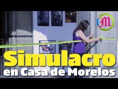 Realizan simulacro en Casa de Morelos