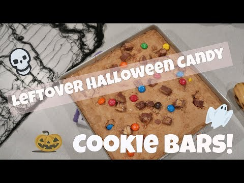 Leftover Halloween Candy || Cookie Bars!